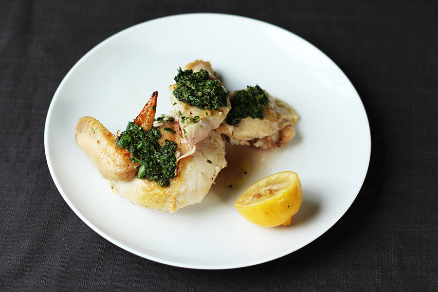 JW Chicken with salsa verde