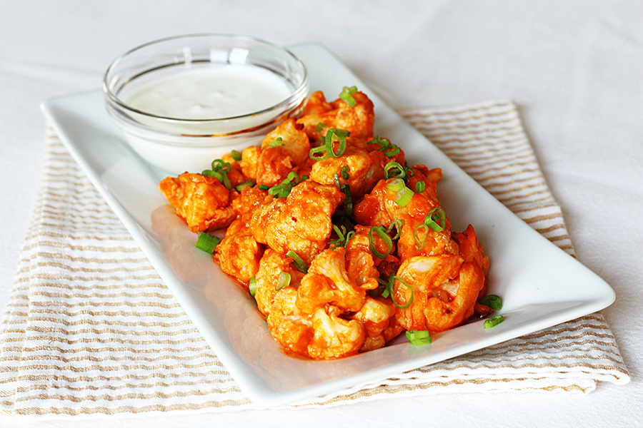 Buffalo Style Cauliflower inspired by The Ribbon