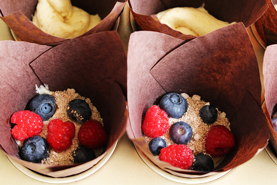 Gramercy Tavern Multi-Berry Coffee Cake Muffins
