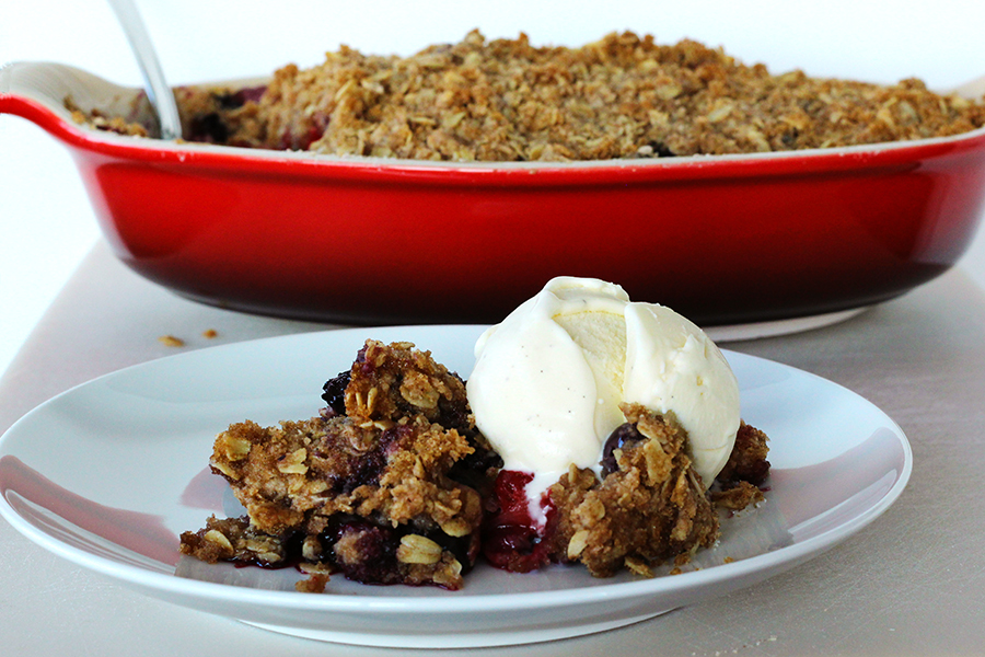 Triple Berry Crisp Recipe