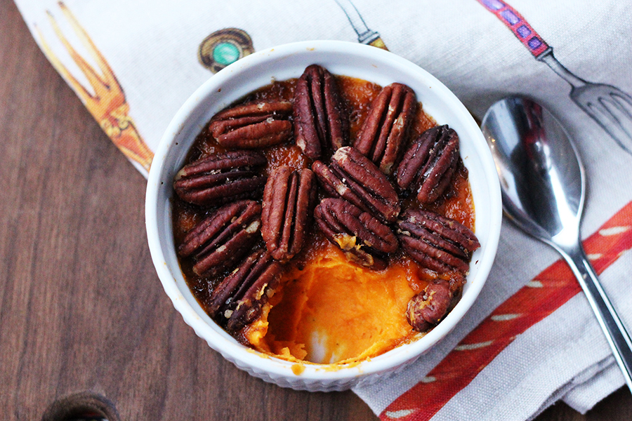 Bourbon Pecan Sweet Potato Brûlée